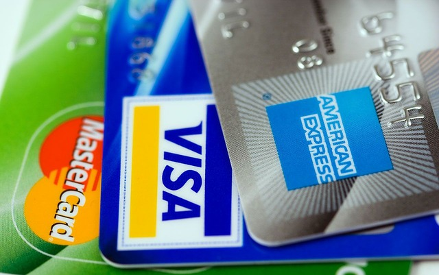 3 credit cards, one mastercard, one visa and one american express