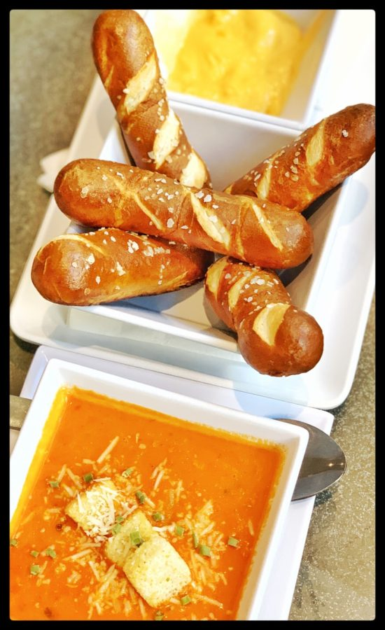 Picture of Pretzel breadsticks and Tomato Bisque Soup
