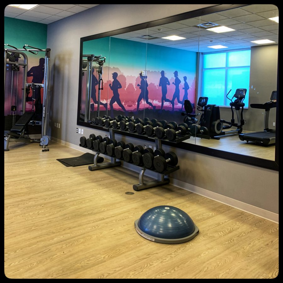 Hyatt Place Niagara Falls Gym- weights