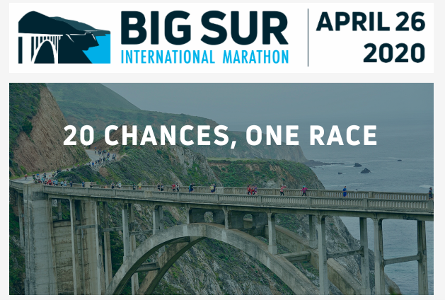 Big Sur International Marathon photo of bridge and water in the background