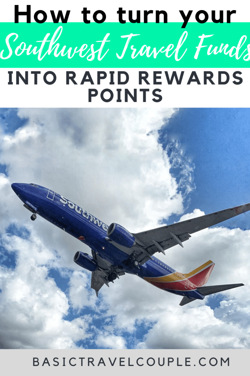 How to turn Southwest Travel Funds into Rapid Rewards Points