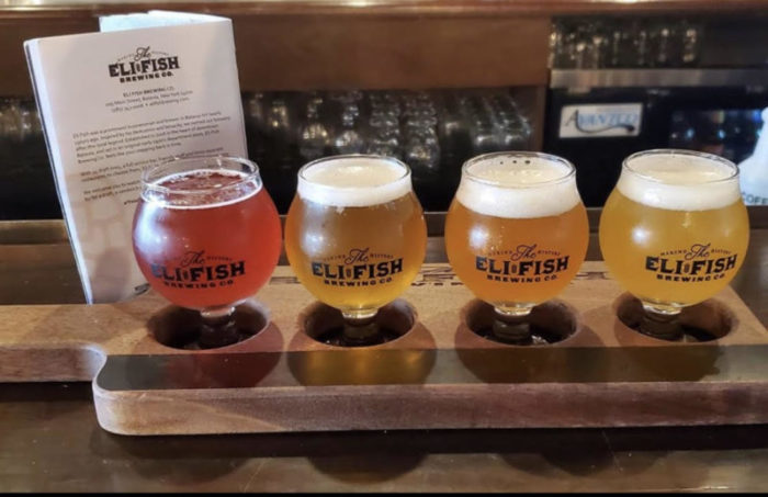 Flight of 4 beers from Eli Fish Brewing Co