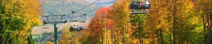 fall views from a chairlift
