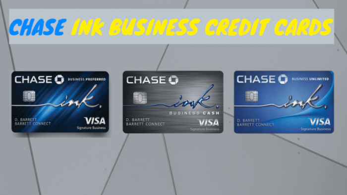 Photo of the three different chase ink business credit card options