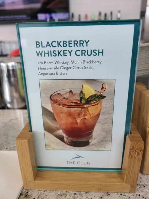 Photo of specialty drink in the club DFW