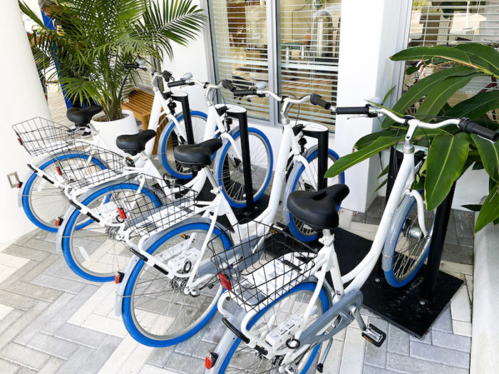Bicycles outside of Kimpton Goodland Hotel in Fort Lauderdale